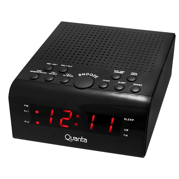 Radio Relógio Quanta QTRAR4300 3.5 watts com AM e FM Bivolt
