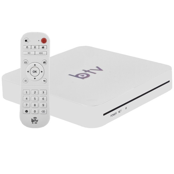 Receptor FTA BTV BX 4K Ultra HD Wi-Fi com 16GB + 2GB de RAM Bivolt